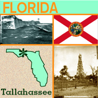 graphic map and images of Florida