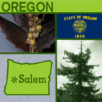 graphic map and images of Oregon