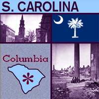 graphic map and images of South Carolina