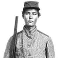 Portrait of Pvt. Walter Miles Parker, 1st Florida Cavalry, C.S.A., between 1860-1865.