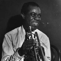 Portrait of Louis Armstrong, 1946.