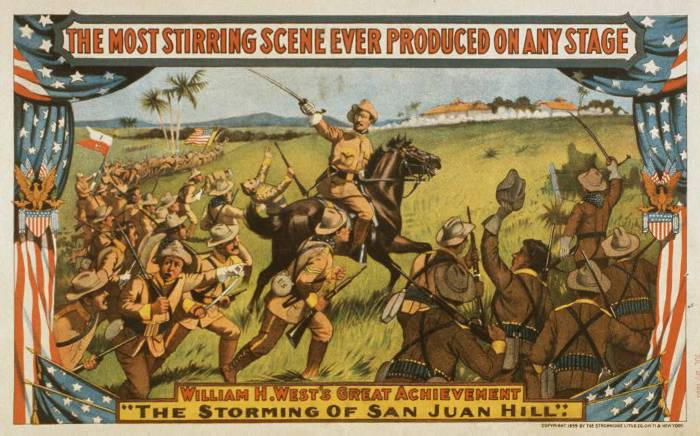 battlefield image of soldiers in Storming of San Juan Hill