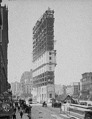 Times Building Under Construction, New York, New York, ca. 1903.